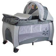 Kidcity - Patut pliabil cu 2 nivele Travel & Sleep Mamakids Gri