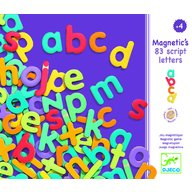 Djeco - Litere magnetice colorate pentru copii, 83 bucati