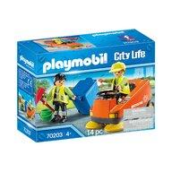 Playmobil - Agenti de salubritate cu masina
