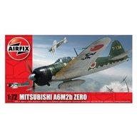 Airfix - Kit aeromodele 01005 avion Mitsubishi A6M2b Zero scara 1:72