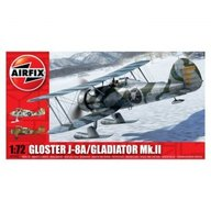 Airfix - Kit aeromodele 2063 avion Gloster Gladiator J-8A/Gladiator Mk.II scara 1:72