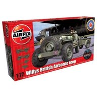 Airfix - Kit automodele 02339 Masina Willys British Airborne Jeep scara 1:72