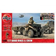Airfix - Kit automodele 4701 Quad British Quad Bikes and Crew scara 1:48