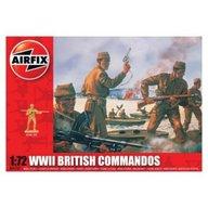 Airfix - Kit soldati 01732 Set 40 soldati Wwii Comando Britanic scara 1:72