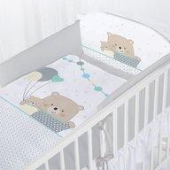 Albero Mio - Set lenjerie imprimata 5 piese Teddy Bears with Balloons, Grey