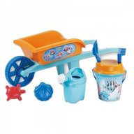 Roaba din plastic copii Androni Crazy Fish cu galetusa stropitoare si alte accesorii nisip