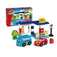 Set constructie Unico Plus Cars for Kidz Statie Service