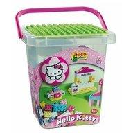 Androni Giocattoli Set constructie Unico Plus Hello Kitty Galetusa cu placa de montat 104 piese