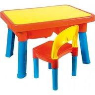 Androni Giocattoli Set masuta cu scaun din plastic multi activitati