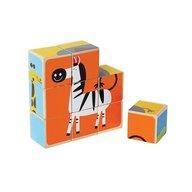 Animalele de la Zoo - puzzle cuburi - HAPE