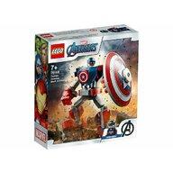LEGO - Set de constructie Armura lui Captain America ® Marvel Super Heroes, pcs  121