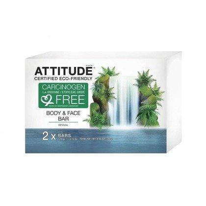 Attitude - Sapun solid revigorant pentru fata si corp 2x120 gr.