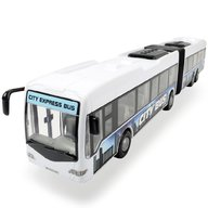Dickie Toys - Autobus City Express Bus alb