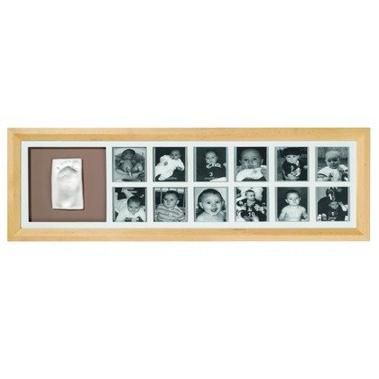 Baby Art First Year Print Frame  Natural