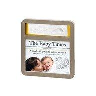 Baby Art Newsprint Frame Taupe & Sun