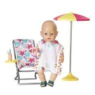 Zapf - Set de joaca Umbrela cu scaun Cu accesorii, Pentru plaja, 43 cm