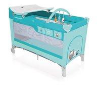 Baby Design - Patut pliabil cu 2 nivele 05  Dream 2018 Turquoise