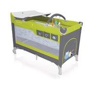 Baby Design Dream 04 green 2016 - Patut pliabil cu 2 nivele