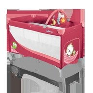Baby Design Patut pliabil cu 2 nivele Dream Base 02 red