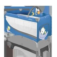Baby Design Patut pliabil cu 2 nivele Dream Base 03 blue