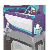 Baby Design Patut pliabil cu 2 nivele Dream Base 06 purple