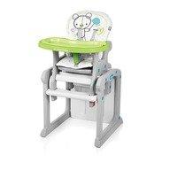 Baby Design Candy 04 green - scaun de masa multifunctional 2 in 1