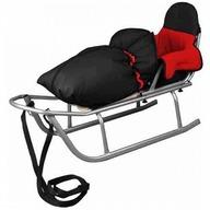 Baby Dreams - Sanie Rider cu sac de iarna Speedy Rosu