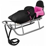 Baby Dreams - Sanie Rider cu sac de iarna Speedy Roz
