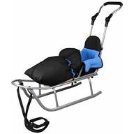 Baby Dreams - Sanie Rider Plus cu sac de iarna Speedy Albastru