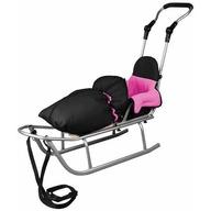 Baby Dreams - Sanie Rider Plus cu sac de iarna Speedy Roz