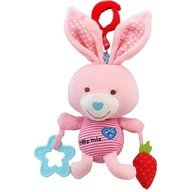 Baby Mix Jucarie muzicala din plus Pink Rabbit