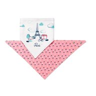 BabyOno - Set 2 bavete triunghiulare, Paris