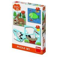 Dino Toys - Baby Puzzle unde locuiesc animalele?