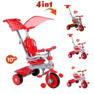 Baby Trike - Tricicleta Baby Trike 4 in 1 Deluxe Red