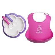 BabyBjorn - Set pentru alimentatie Baby Feeding Set, Pink