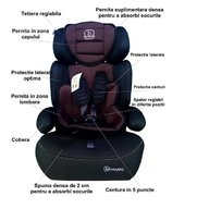 BabyGo Scaun auto FreeMove Brown