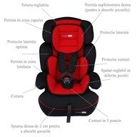 BabyGo Scaun auto FreeMove Red