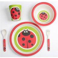 BabyGo - Set alimentatie Bamboo Ladybug 5 piese