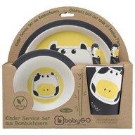 BabyGo - Set de alimentatie Bamboo Cow 5 piese