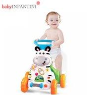 babyINFANTINI - Antepremergator Zebra cu muzica