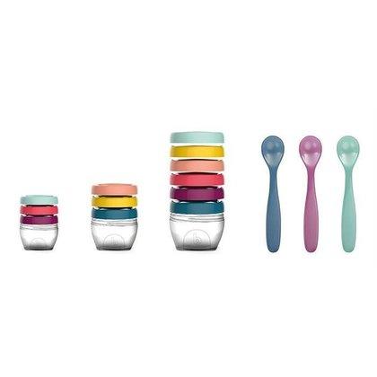 Babymoov -Multi set pentru diversificare: 3 seturi recipiente + un set linguri