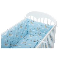 Babyneeds - Lenjerie patut 5 piese 120x60 cm, Norisori pufosi, Albastru