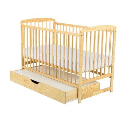 BabyNeeds Patut din lemn Ola 120x60 cm cu sertar Natur
