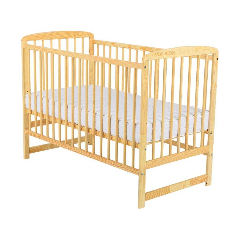 BabyNeeds Patut din lemn Ola 120X60 cm Natur