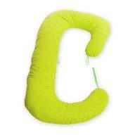 BabyNeeds - Perna 3 in 1 pentru gravide si bebelusi Soft, Bulinute mici alb cu verde