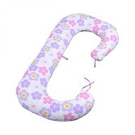 BabyNeeds - Perna 3 in 1 pentru gravide si bebelusi Soft, Floricele pe campie, Mov
