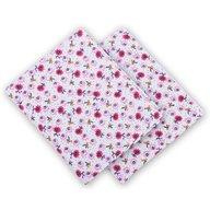 Babyneeds Scutec finet alb-roz 2 bucati 75/75 cm