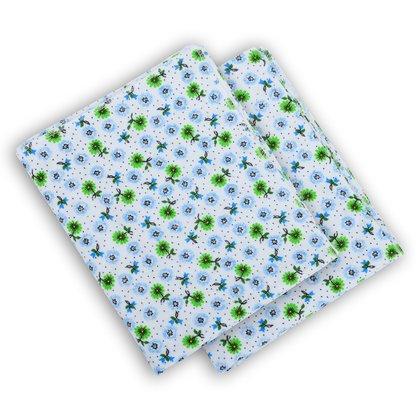 Babyneeds Scutec finet alb-verde 2 bucati 75/75 cm
