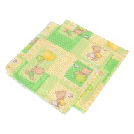 Babyneeds - Scutec finet Ursuleti colorati, Verde, 2 bucati 75/75 cm