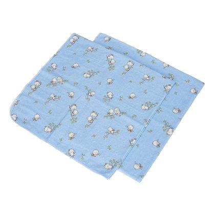 BabyNeeds - Scutec finet 75/75 cm, 2 bucati, Vrabiute, Albastru